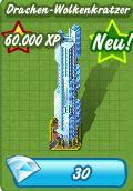 Millionaire City Drachen-Wolkenkratzer 30 Diamanten