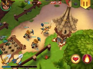 Royal Revolt App 3D Aufsicht