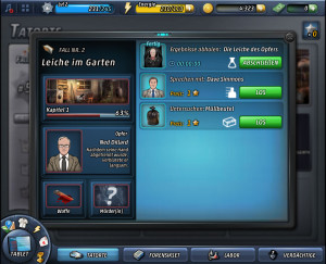 Criminal Case spielen Tablet