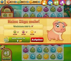 Farm Heroes Saga spielen - Keine Züge mehr!