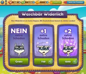 Farm Heroes Saga spielen - Waschbär Widerlich