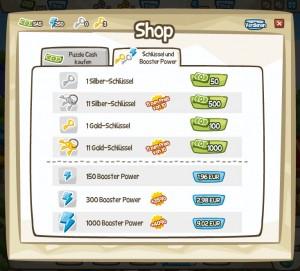 Puzzle Adventures spielen - Shop