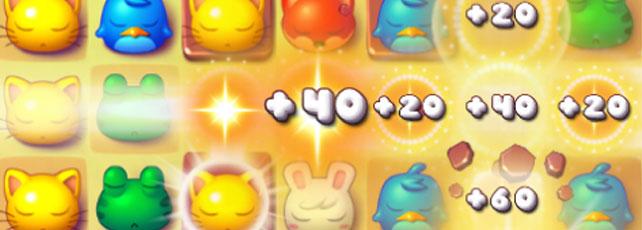 Pet pop spielen niedliches puzzlespiel für zwischendurch