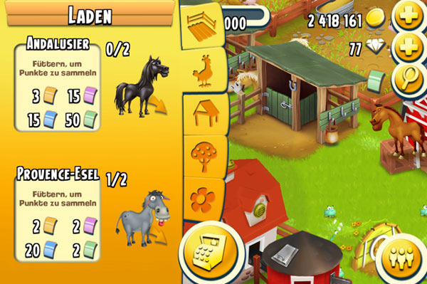 Hay Day Tiere