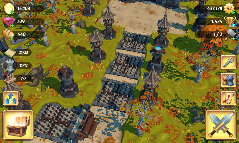 Royal Revolt 2 Verteidigung Tipps