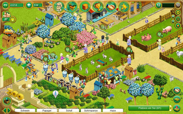 Browsergames My Free Zoo