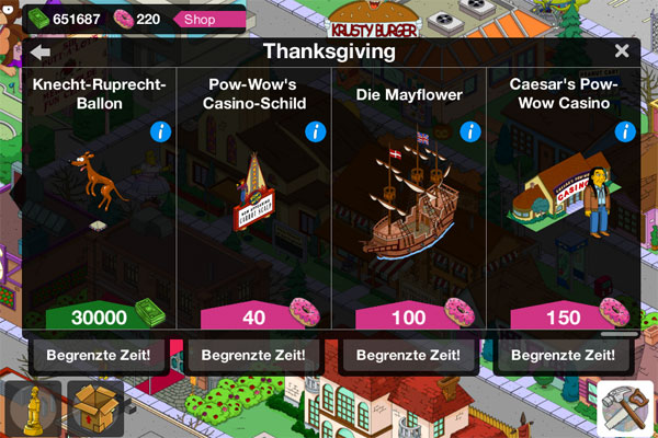 Die Simpsons Springfield Thanksgiving Event  Screen
