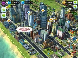 SimCity App Screen