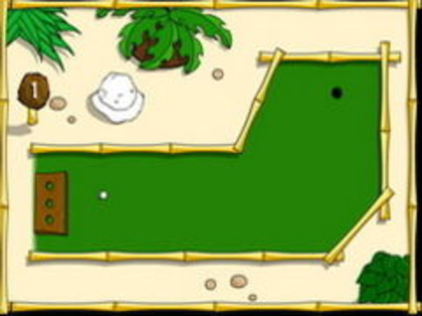 Bild zu Geschick-Spiel Island Minigolf