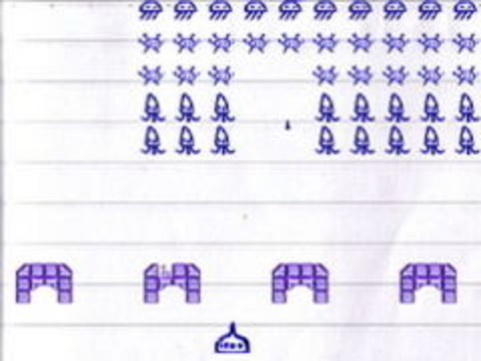 Notepad Invaders