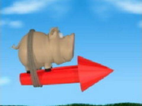 Bild zu Rennen-Spiel Pig Rocket