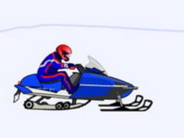 Bild zu Action-Spiel Schnee Scooter