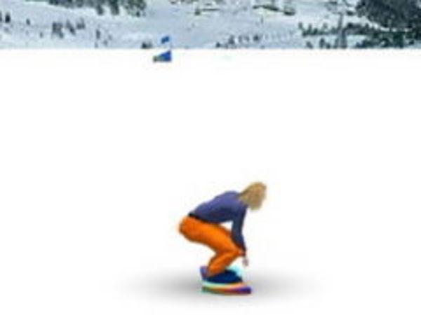 Bild zu Sport-Spiel Snowboard Slalom