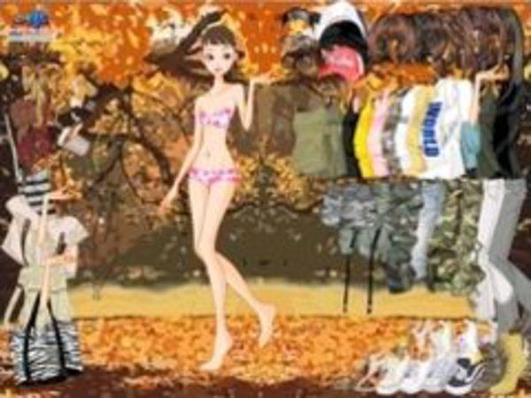 Bild zu Mädchen-Spiel Autumn Forest Dress Up