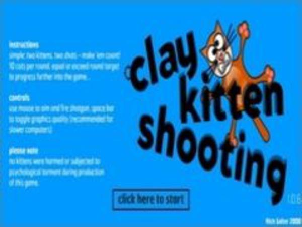 Bild zu Action-Spiel Clay Kitten Shooting