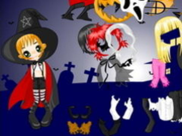 Bild zu Mädchen-Spiel Halloween Dressup