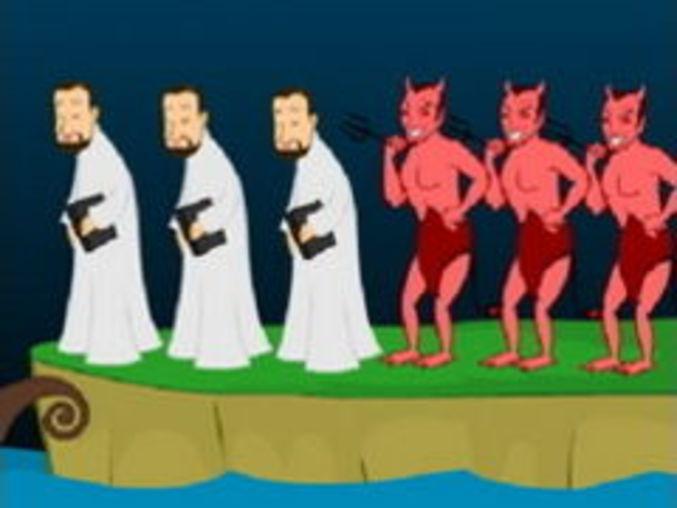 Priester und Teufel