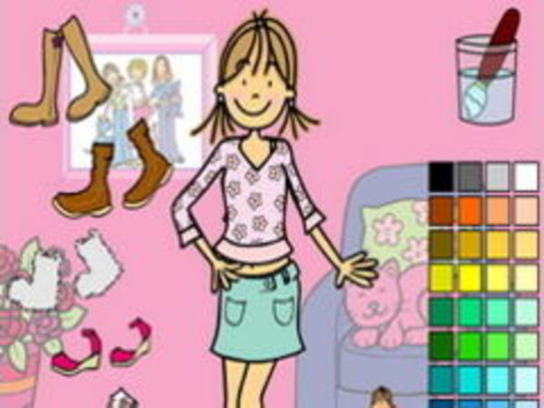 Bild zu Mädchen-Spiel Paint my Clothes