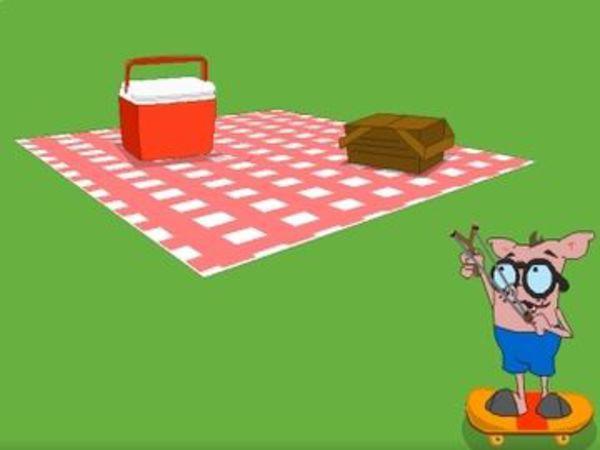 Bild zu Rennen-Spiel Slingshot Picnic