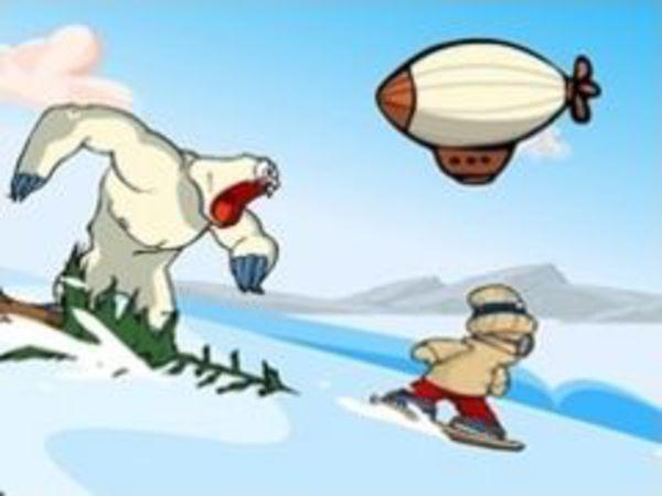 Bild zu Geschick-Spiel Snow Rider Academy