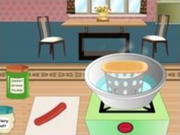 Bild zu Mädchen-Spiel Chicago Hot Dog