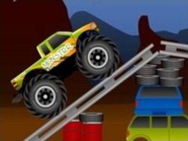 Bild zu Geschick-Spiel Monster Wheelie