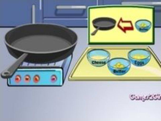 Cheese Omelette Cooking Show