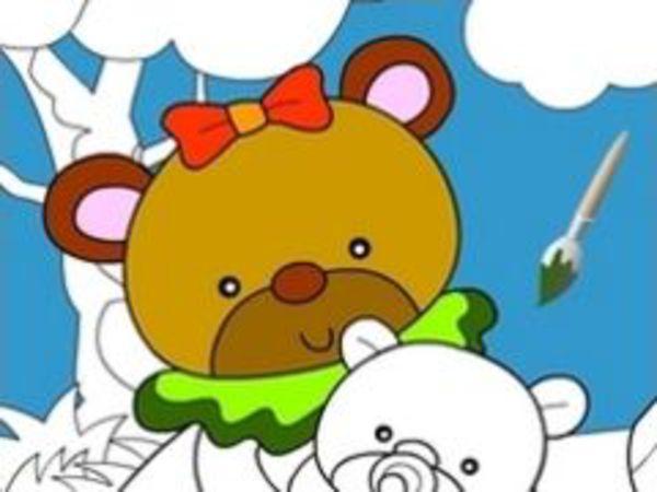 Bild zu Kinder-Spiel Happy Bear Painter