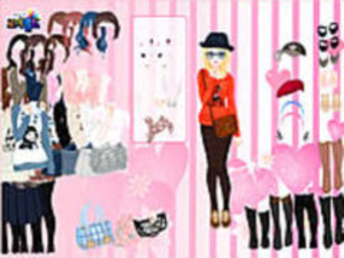 Pink Wallpaper Dressup