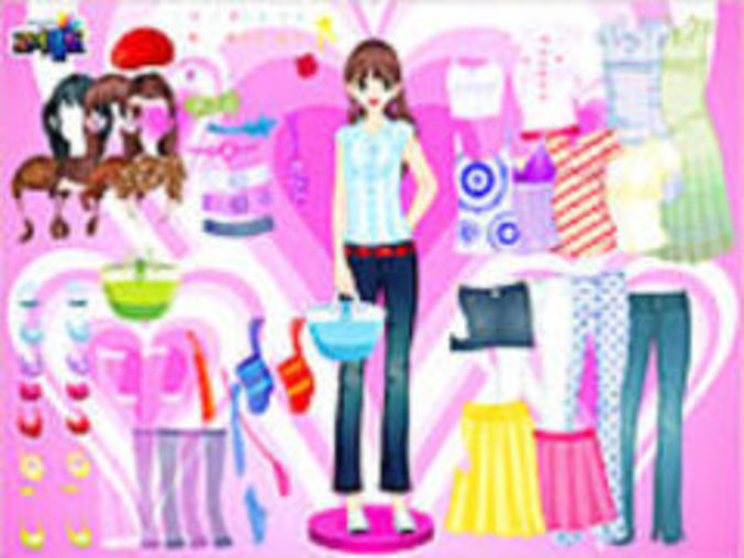 Hearts And Dots Dressup