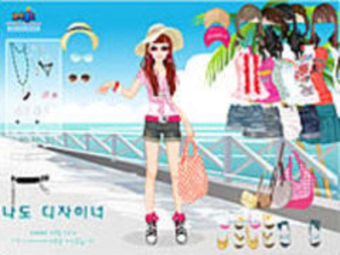 Beach Doll Dress Up