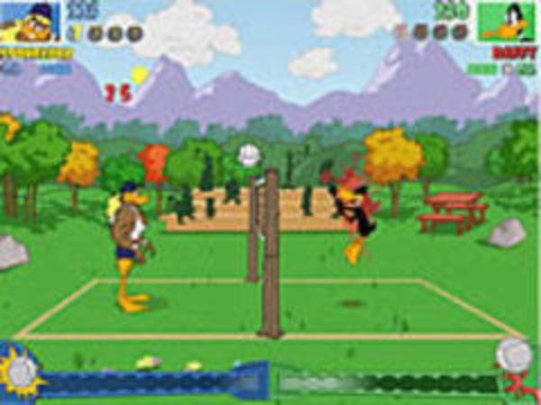 Bild zu Geschick-Spiel Tricky Duck Volleyball
