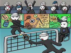 Stickfigur Badminton spielen