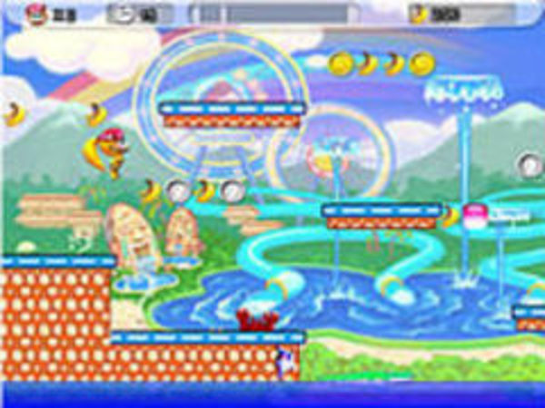 Bild zu Geschick-Spiel Jumping Bananas 2
