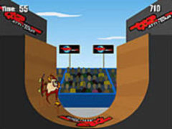 Bild zu Action-Spiel Extreme Taz Skateboardhalfpipe