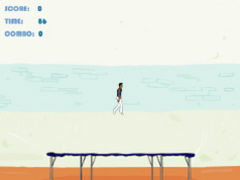 Trampolin Springen spielen