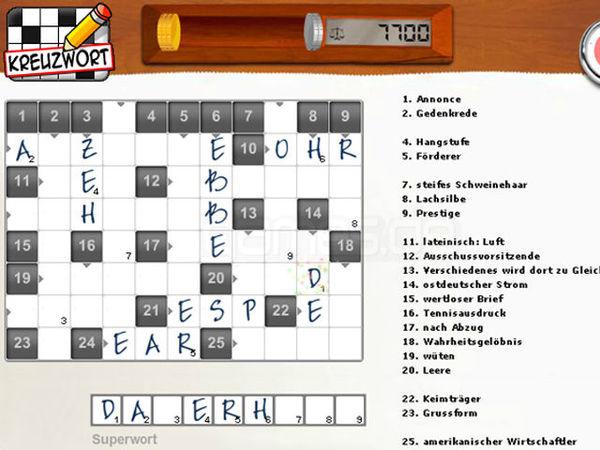 Bild zu Alle-Spiel Kreuzworträtsel