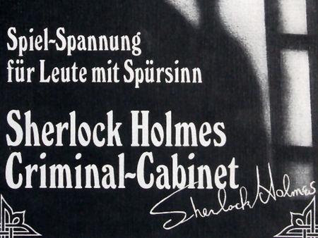 Sherlock Holmes Criminal-Cabinet