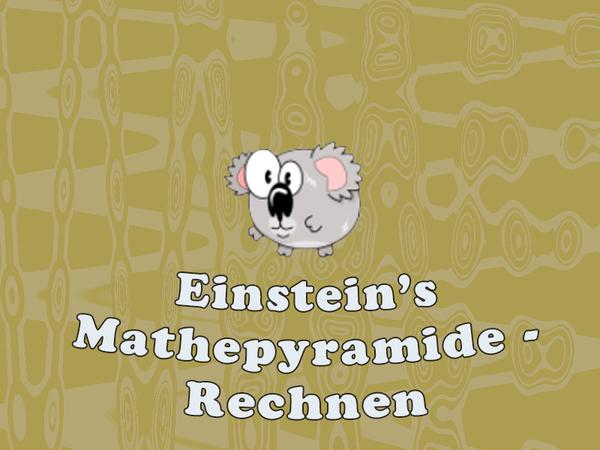 Bild zu Neu-Spiel Einstein's Mathepyramide - Rechnen