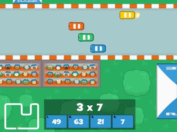 Bild zu HTML5-Spiel Mathe Grand Prix - Multiplizieren