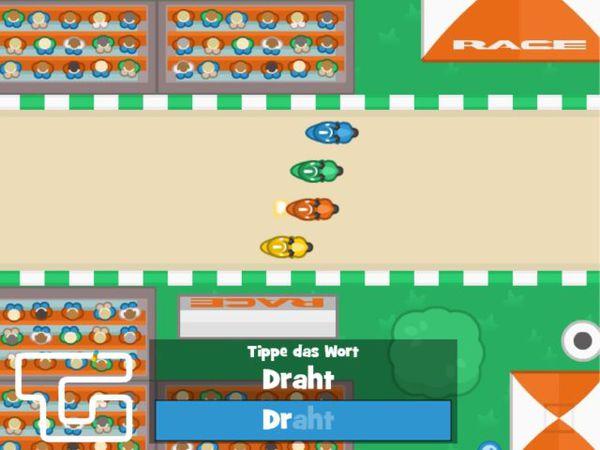 Bild zu HTML5-Spiel Schreib Gand Prix - Rechtschreibung