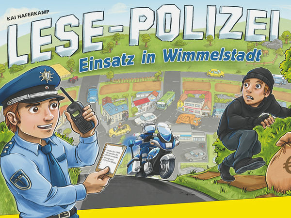 Bild zu Frühjahrs-Neuheiten-Spiel Lese-Polizei: Einsatz in Wimmelstadt
