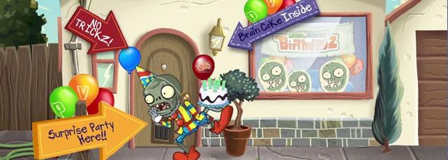 Plants vs. Zombies Geburtstag