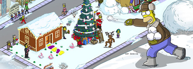 Simpsons Springfield Weihnachts-Event 2015