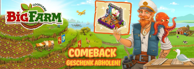 Goodgame Big Farm comeback bonus gratis GEschenkpaket
