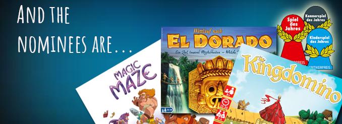 Spiel des Jahres 2017 Nominierungsliste veröffentlicht