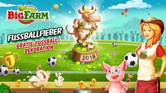 Goodgame Big Farm Fußballevents Fußballfieber WM2018