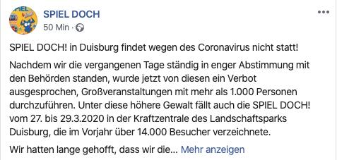 SPIEL DOCH! in Duisburg ist abgesgat