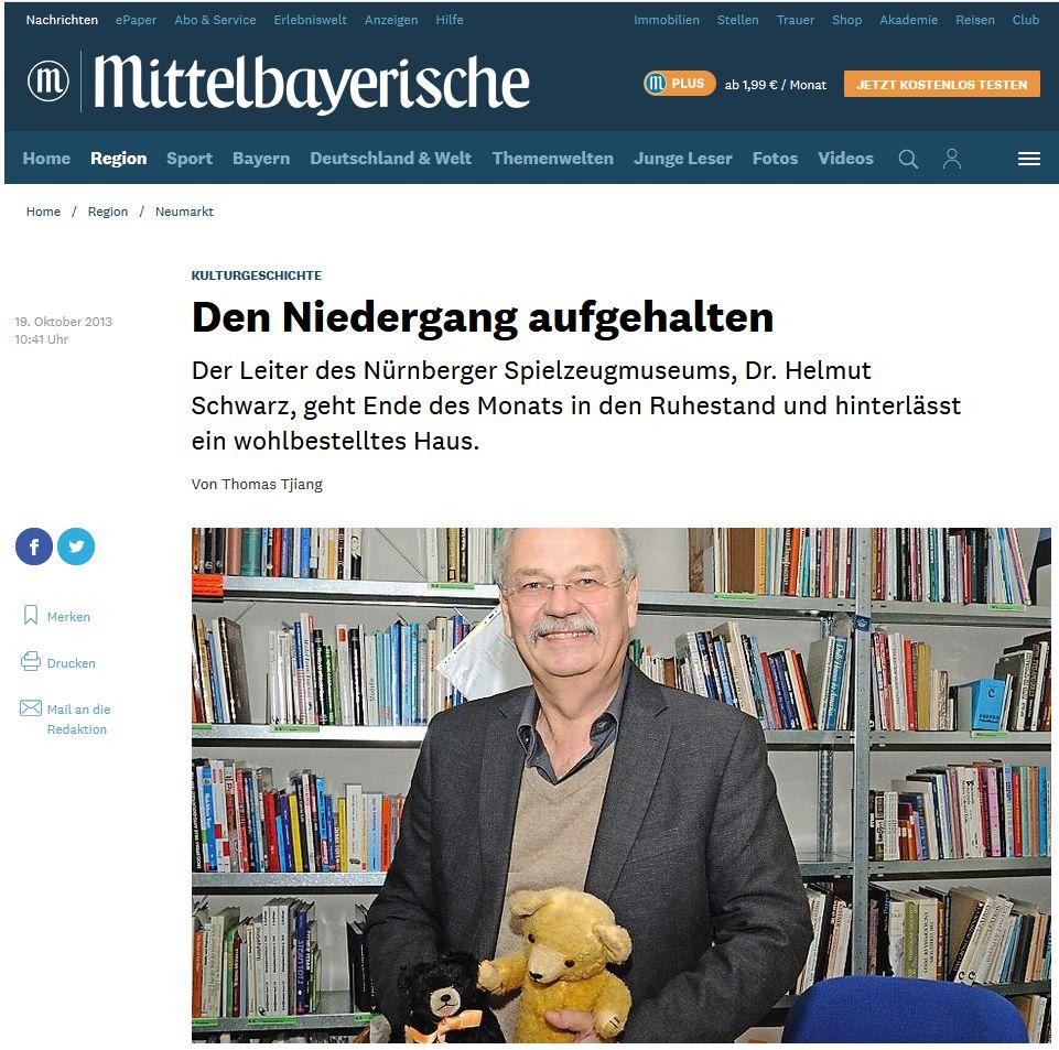 Helmut Schwarz 2013, Mittelbayerische