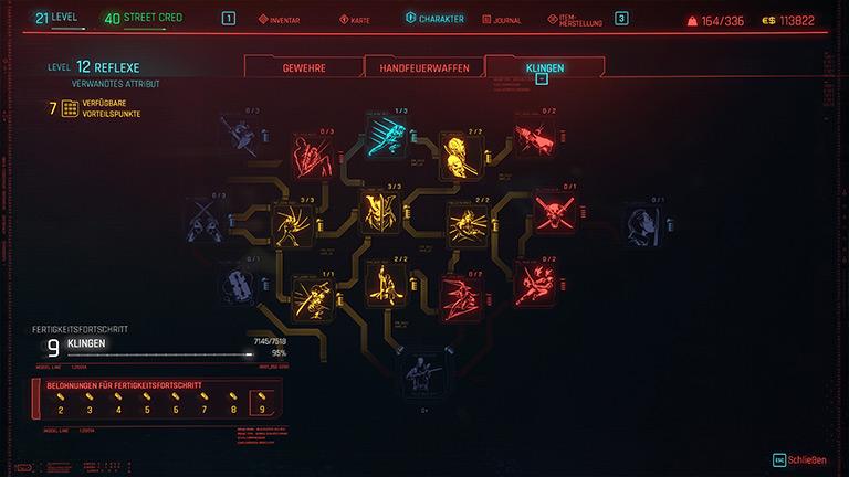 Cyberpunk 2077 - Talentbaum